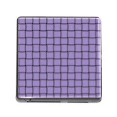 Light Pastel Purple Weave Memory Card Reader With Storage (square) by BestCustomGiftsForYou