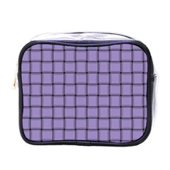 Light Pastel Purple Weave Mini Travel Toiletry Bag (one Side) by BestCustomGiftsForYou