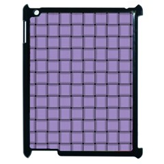 Light Pastel Purple Weave Apple Ipad 2 Case (black) by BestCustomGiftsForYou