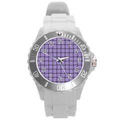 Light Pastel Purple Weave Plastic Sport Watch (large) by BestCustomGiftsForYou