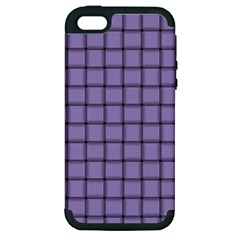 Light Pastel Purple Weave Apple Iphone 5 Hardshell Case (pc+silicone) by BestCustomGiftsForYou