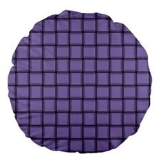 Light Pastel Purple Weave 18  Premium Round Cushion  by BestCustomGiftsForYou