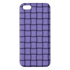 Light Pastel Purple Weave Iphone 5 Premium Hardshell Case