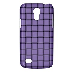 Light Pastel Purple Weave Samsung Galaxy S4 Mini Hardshell Case  by BestCustomGiftsForYou