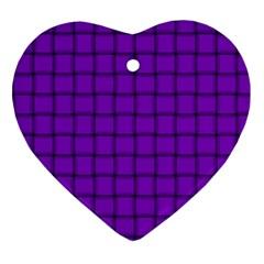 Dark Violet Weave Heart Ornament