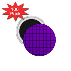 Dark Violet Weave 1 75  Button Magnet (100 Pack) by BestCustomGiftsForYou