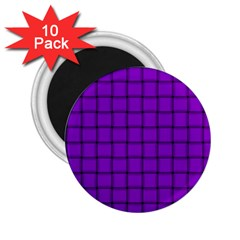 Dark Violet Weave 2 25  Button Magnet (10 Pack) by BestCustomGiftsForYou