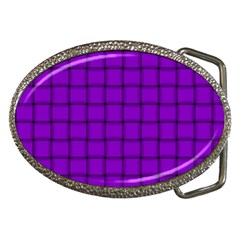Dark Violet Weave Belt Buckle (oval) by BestCustomGiftsForYou