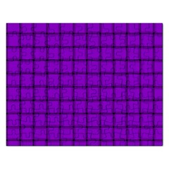 Dark Violet Weave Jigsaw Puzzle (rectangle) by BestCustomGiftsForYou