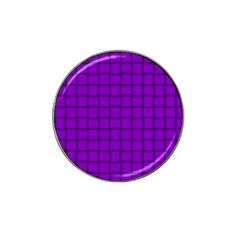 Dark Violet Weave Golf Ball Marker (for Hat Clip) by BestCustomGiftsForYou