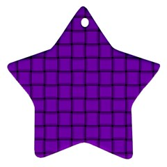 Dark Violet Weave Star Ornament (two Sides) by BestCustomGiftsForYou