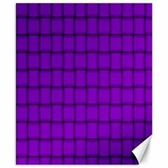 Dark Violet Weave Canvas 8  X 10  (unframed)