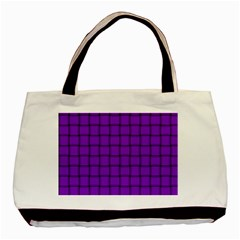 Dark Violet Weave Twin Sided Black Tote Bag by BestCustomGiftsForYou