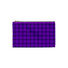 Dark Violet Weave Cosmetic Bag (small) by BestCustomGiftsForYou