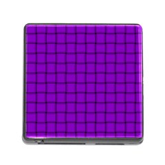 Dark Violet Weave Memory Card Reader With Storage (square) by BestCustomGiftsForYou