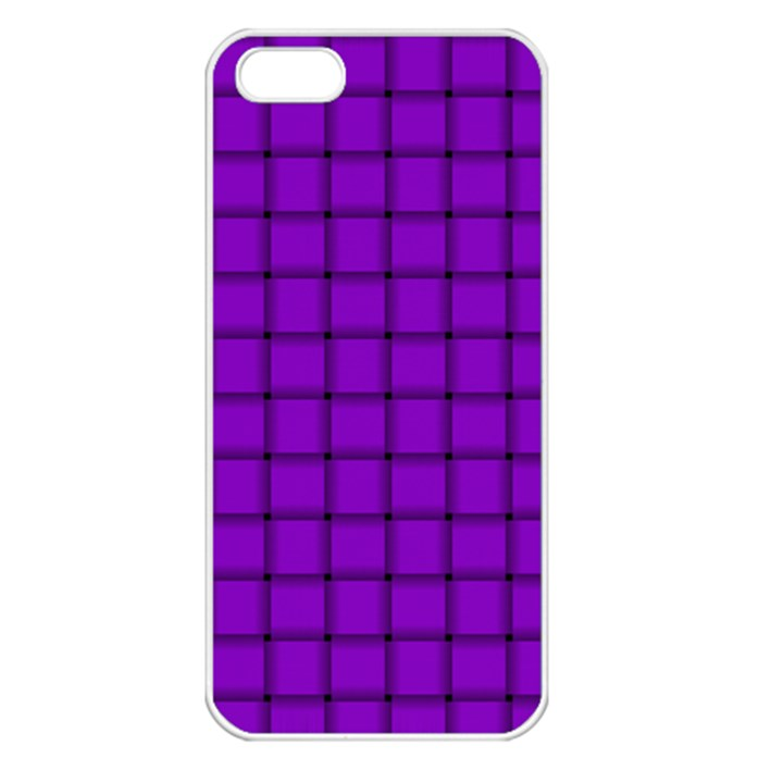 Dark Violet Weave Apple iPhone 5 Seamless Case (White)