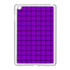 Dark Violet Weave Apple Ipad Mini Case (white) by BestCustomGiftsForYou
