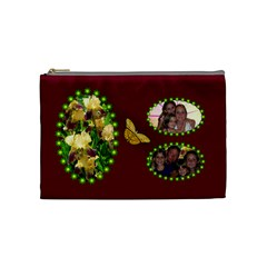 Golden Iris Medium Cosmetic Bag By Joy Johns   Cosmetic Bag (medium)   Zcdnf8bg3xzk   Www Artscow Com Front