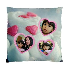 Cupcake Hearts Pillow Case By Ivelyn   Standard Cushion Case (two Sides)   Iov7dexh1scc   Www Artscow Com Front