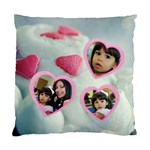 cupcake hearts pillow case - Standard Cushion Case (Two Sides)