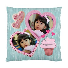 Cupcake Hearts Pillow Case By Ivelyn   Standard Cushion Case (two Sides)   Iov7dexh1scc   Www Artscow Com Back