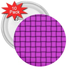 Ultra Pink Weave  3  Button (10 Pack) by BestCustomGiftsForYou