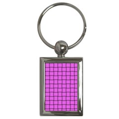 Ultra Pink Weave  Key Chain (rectangle) by BestCustomGiftsForYou