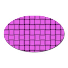 Ultra Pink Weave  Magnet (oval) by BestCustomGiftsForYou