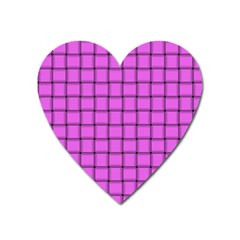 Ultra Pink Weave  Magnet (heart) by BestCustomGiftsForYou