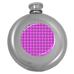 Ultra Pink Weave  Hip Flask (round)