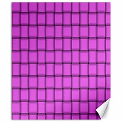 Ultra Pink Weave  Canvas 8  X 10  (unframed) by BestCustomGiftsForYou