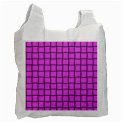 Ultra Pink Weave  Recycle Bag (one Side) by BestCustomGiftsForYou