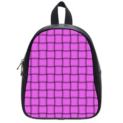 Ultra Pink Weave  School Bag (small)