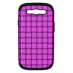 Ultra Pink Weave  Samsung Galaxy S Iii Hardshell Case (pc+silicone) by BestCustomGiftsForYou