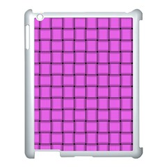Ultra Pink Weave  Apple Ipad 3/4 Case (white) by BestCustomGiftsForYou