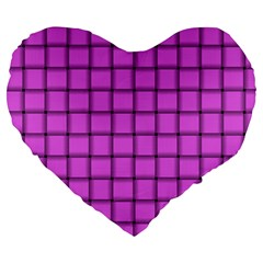 Ultra Pink Weave  19  Premium Heart Shape Cushion by BestCustomGiftsForYou