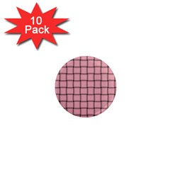 Light Pink Weave 1  Mini Button Magnet (10 Pack) by BestCustomGiftsForYou