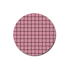 Light Pink Weave Drink Coaster (round) by BestCustomGiftsForYou