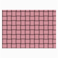 Light Pink Weave Glasses Cloth (large, Two Sided) by BestCustomGiftsForYou