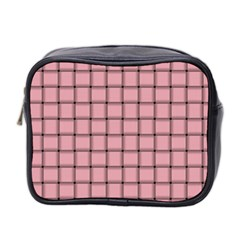 Light Pink Weave Mini Travel Toiletry Bag (two Sides) by BestCustomGiftsForYou