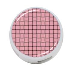 Light Pink Weave 4 Port Usb Hub (two Sides)