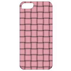 Light Pink Weave Apple Iphone 5 Classic Hardshell Case by BestCustomGiftsForYou