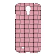 Light Pink Weave Samsung Galaxy S4 I9500 Hardshell Case by BestCustomGiftsForYou