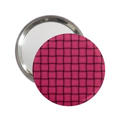 Dark Pink Weave Handbag Mirror (2 25 ) by BestCustomGiftsForYou