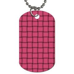 Dark Pink Weave Dog Tag (two Sided)  by BestCustomGiftsForYou