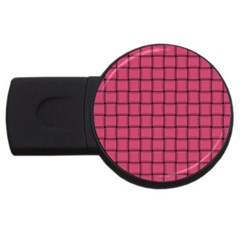 Dark Pink Weave 2gb Usb Flash Drive (round) by BestCustomGiftsForYou