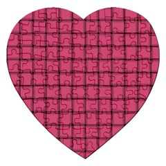 Dark Pink Weave Jigsaw Puzzle (heart) by BestCustomGiftsForYou