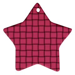 Dark Pink Weave Star Ornament (two Sides) by BestCustomGiftsForYou