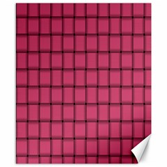 Dark Pink Weave Canvas 8  X 10  (unframed) by BestCustomGiftsForYou