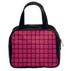 Dark Pink Weave Classic Handbag (two Sides) by BestCustomGiftsForYou